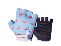 Велорукавички PowerPlay 001 Фламінго XS Блакитні (001_Blue_Flamingo_XS)