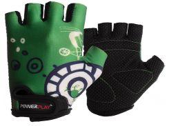 Велорукавички PowerPlay 001 A 3XS Зелені (001A_Green_3XS)