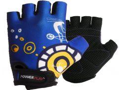 Велорукавички PowerPlay 001 C 2XS Сині (001C_Blue_2XS)