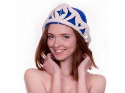 Банная шапка Luxyart Снежная королева Синий (LA-094)