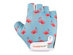 Велорукавички PowerPlay 001 Фламінго Блакитні 2XS (FO83001_Blue_Flamingo_2XS)