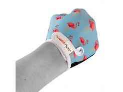 Велорукавички PowerPlay 001 Фламінго Блакитні S (FO83001_Blue_Flamingo_S)