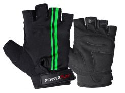 Велорукавички PowerPlay 5031 Чорно-Зелені S