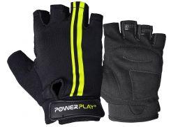 Велорукавички PowerPlay 5031 G Чорно-Жовті XS