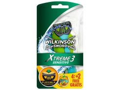 Одноразовые станки для бритья Wilkinson Sword Schick Xtreme Sensitive 4+2 шт (1061)