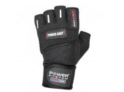 Перчатки для фитнеса и тяжелой атлетики Power System Power Grip PS-2800 XXL Black (VZ55PS-2800_2XL_Black)