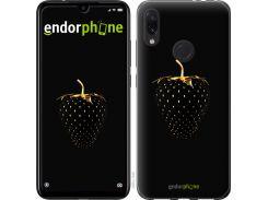 Пластиковый чехол Endorphone на Xiaomi Redmi Note 7 Черная клубника (3585m-1639-26985)