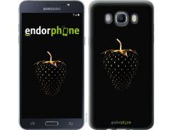 Силиконовый чехол Endorphone на Samsung Galaxy J7 J710F Черная клубника (3585u-263-26985)
