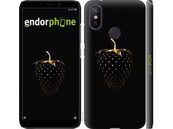 Пластиковый чехол Endorphone на Xiaomi Mi A2 Черная клубника (3585m-1481-26985)