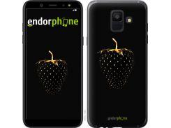 Силиконовый чехол Endorphone на Samsung Galaxy A6 2018 Черная клубника (3585u-1480-26985)
