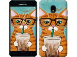 Чехол EndorPhone на Samsung Galaxy J3 2018 Зеленоглазый кот в очках (4054u-1501)