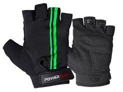 Велорукавички PowerPlay 5031 M Чорно-зелені (5031_M_Black-Green)