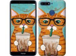 Чехол EndorPhone для Huawei Honor 7A Pro Зеленоглазый кот в очках (4054u-1440)