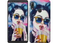 Чехол EndorPhone на Lenovo K5 Pro Арт-девушка в очках (3994m-1608)