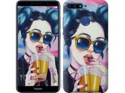 Чехол EndorPhone для Huawei Honor 7A Pro Арт-девушка в очках (3994u-1440)