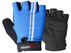 Велорукавички PowerPlay 5031 A L Блакитні (5031A_L_Blue)