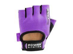 Перчатки для фитнеса и тяжелой атлетики Power System Pro Grip PS-2250 L Purple