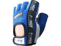 Перчатки для фитнеса и тяжелой атлетики Power System Workout PS-2200 M Blue