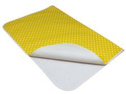 Непромокаемая двусторонняя детская пеленка Corylus 50x70 см Желтая (BP16)
