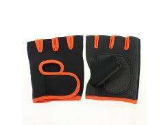Перчатки для фитнеса OUHQSVGOIYG L Черно-оранжевый (gab_krp100RLAw51122)