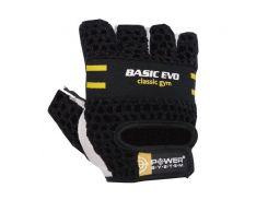 Перчатки для фитнеса и тяжелой атлетики Power System Basic EVO PS-2100 M Black/Yellow Line (VZ55PS_2100E_M_Black/Yellow)