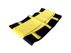 Пояс для похудения Hot Shapers Belt Power Черный с желтым (1524)