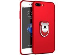 Чехол-накладка SHENGO Soft-touch holder TPU Case для iPhone 7 Plus Red (54287)