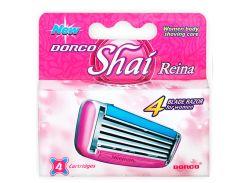 Сменные кассеты для бритья женские Dorco Shai Reina 4 лезвия - 4 шт (3025)