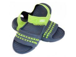 Детские пляжные сандалии Aqua Speed Noli 33 Темно-синий с зеленым (aqs253)