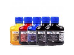 Комплект чернил InColor для фотопечати 5 x 100 мл BK/C/M/Y/BK (hub_njzf32076)