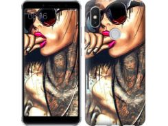 Чехол EndorPhone на Lenovo S5 Pro Девушка в тату (4001m-1615)
