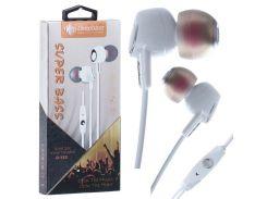 Наушники с микрофоном Deepbass D153 Белые (30542)