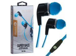 Наушники с микрофоном Deepbass D-16 Черно-Синие (30537)