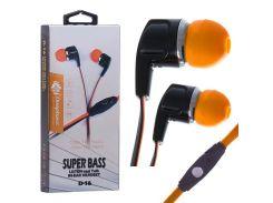 Наушники с микрофоном Deepbass D-16 Черно-Оранжевые (30535)