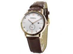 Мужские часы SWIDU SWI-018 Brown-White (3088-8710)