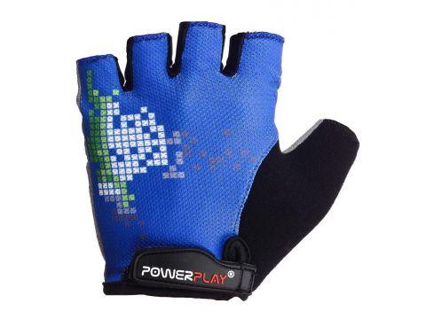 Велорукавички PowerPlay 002 D L Сині (002D_L_Blue)
