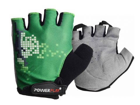Велорукавички PowerPlay 002 C M Зелені (002C_M_Green)
