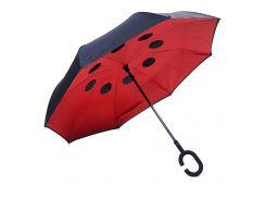 Зонт обратного сложения BlackRed Красный