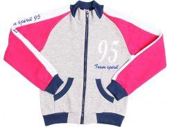 Толстовка для девочек Valeri-Tex 1916-75-055-030 146 см Серый меланж (2517)