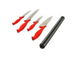 Набор из 4 кухонных ножей Swiss Zurich с магнитным держателем (1381)