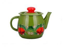 Чайник емальований Idilia Зелені вишні та яблука 1 л І2707/4 (441924)