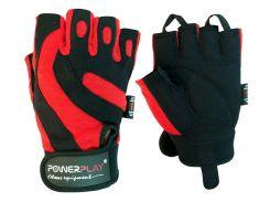 Рукавички для фітнесу PowerPlay 1598 L Чорно-червоні (PP_1598C_L_Black/Red)