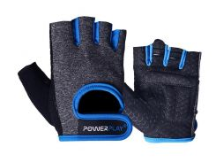Рукавички для фітнесу PowerPlay 2935 M Сіро-сині (PP_2935_M_Blue_Line)