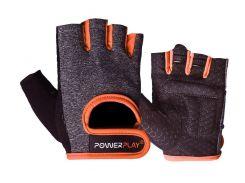 Рукавички для фітнесу PowerPlay 2935 M Сіро-помаранчеві (PP_2935_M_Orange_Line)