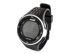 Часы спортивные Skmei 1219 Black-Silver (1219BSB)