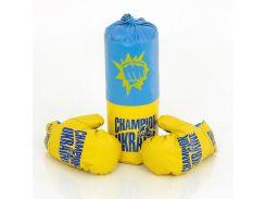 Боксерский набор Данко Тойс средний Синий с желтым (3090)