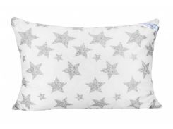 Подушка Leleka-Textile биопух премиум 50x70 см чехол на молнии Белый с серым (1005463)