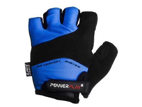 Велорукавички PowerPlay 5013 C M Сині (5013C_M_Blue)