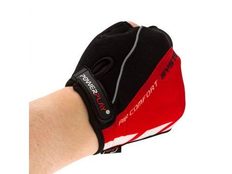 Велорукавички PowerPlay 5024 C M Чорно-червоні (5024C_M_Red)