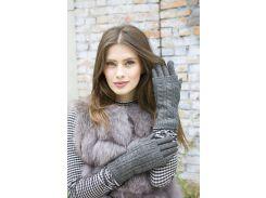 Женские зимние перчатки стрейч + вязка 7.5 р (224)